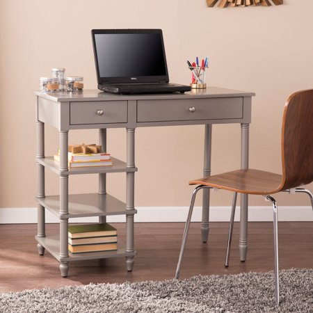 Southern Enterprises Mishel Desk, Modern Farmhouse Style, Gray