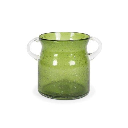 Stevenson Handblown Small Green Glass Jar Green Glass Jar