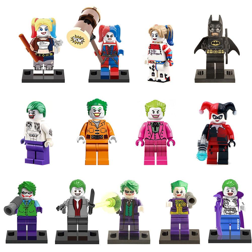 13pcs SET Batman VS Joker Harley Quinn Custom MiniFigure Superhero by Denuo