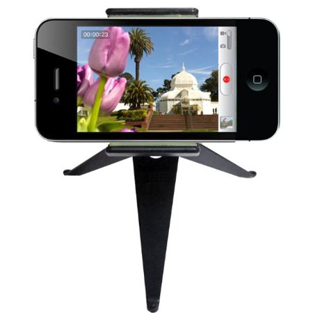 DBTech Adjustable Folding Mini Tripod Stand - Great for iPod, iPhone, and All Mobile Devices - Great for Video and Chat (Pet Video Chat)