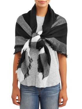 Eliza May Rose by Hat Attack Women's Fashion Square Blanket Scarf
