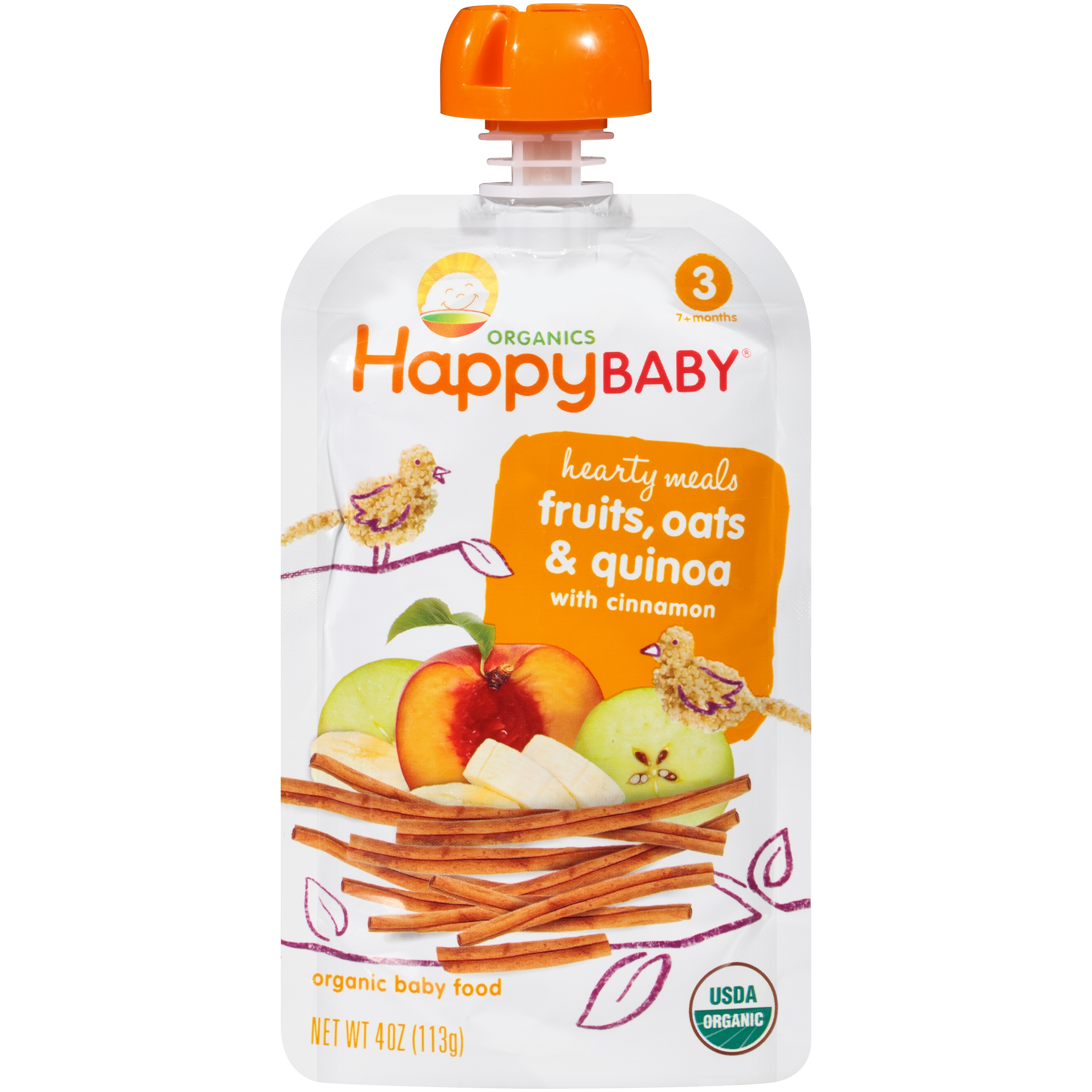 Happy Baby® Hearty Meals Fruits, Oats & Quinoa with Cinna...