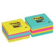 """Post-it Super Sticky Notes Cube, 3"""" x 3"""", Bright Colors, Color May Vary, 1 Cube"""