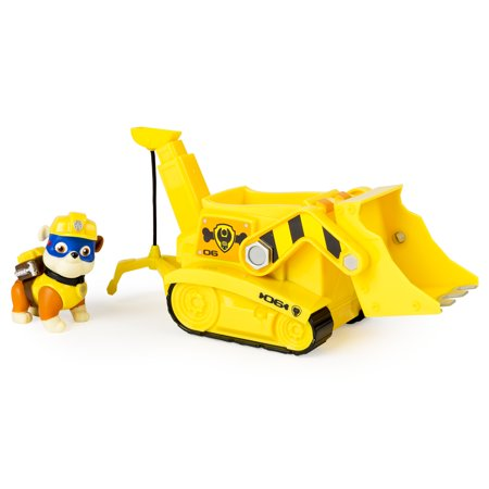Paw Patrol Super Pup Rubble's Crane, Vehicle and Figure - Wilma Rubble