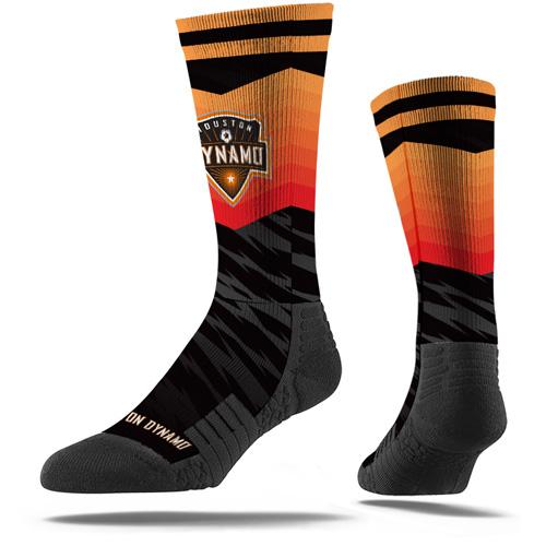 Houston Dynamo Premium Sublimated Crew Socks - Black - M/L
