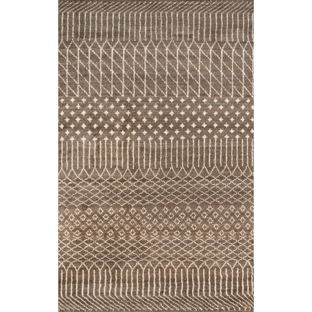 Momeni Atlas Wool Hand Knotted Brown Area Rug 5' X 8'