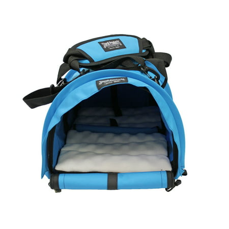 4c004fcc46 Sturdi Products Bag Double Sided Divided Pet Carrier, Large, Blue Jay -  Walmart.com