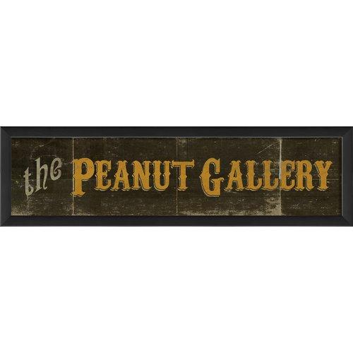 The Artwork Factory The Peanut Gallery Framed Textual Art Walmart Com Walmart Com