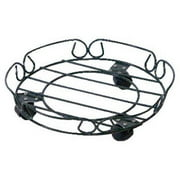 Panacea 89229TV 12 in. Black Round Plant Caddy With Wheels