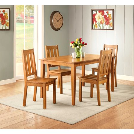 Better homes and gardens bankston dining table honey for Better homes and gardens dining room ideas