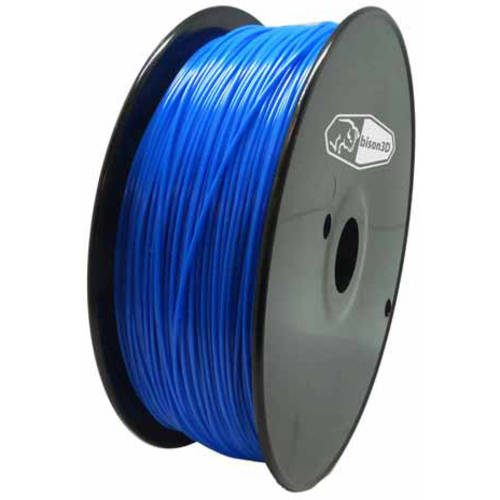 Bison3D Universal Filament for 3D Printing, 1.75mm, 1kg/Roll, Blue (PLA)