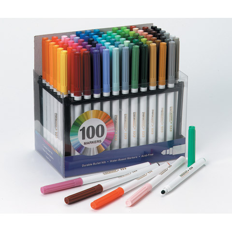 Fibra Color Markers 100Pk Made In Italy