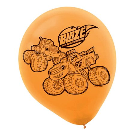 Blaze and the Monster Machines Latex Balloons (6 Pack) - Party Supplies - Halloween Boo-ze