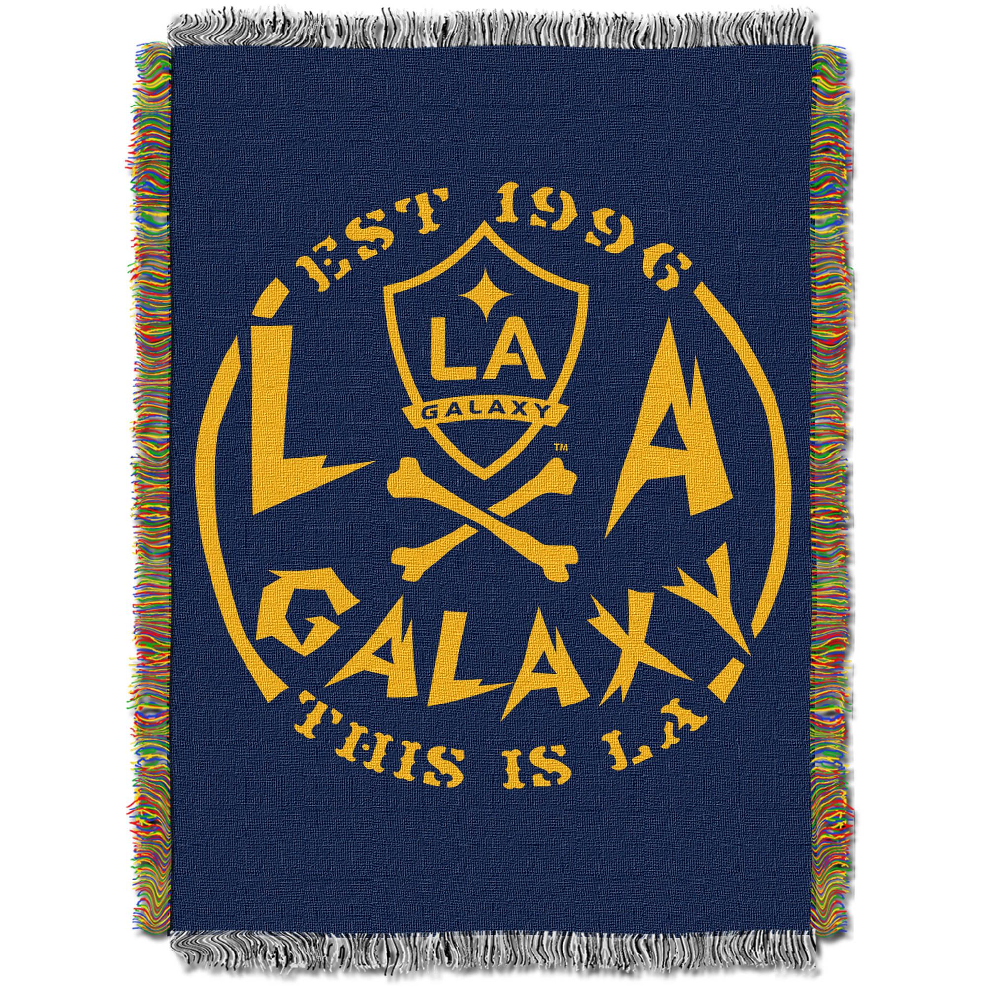 "MLS Los Angeles Galaxy Handmade 48"" x 60"" Woven Tapestry Throw"