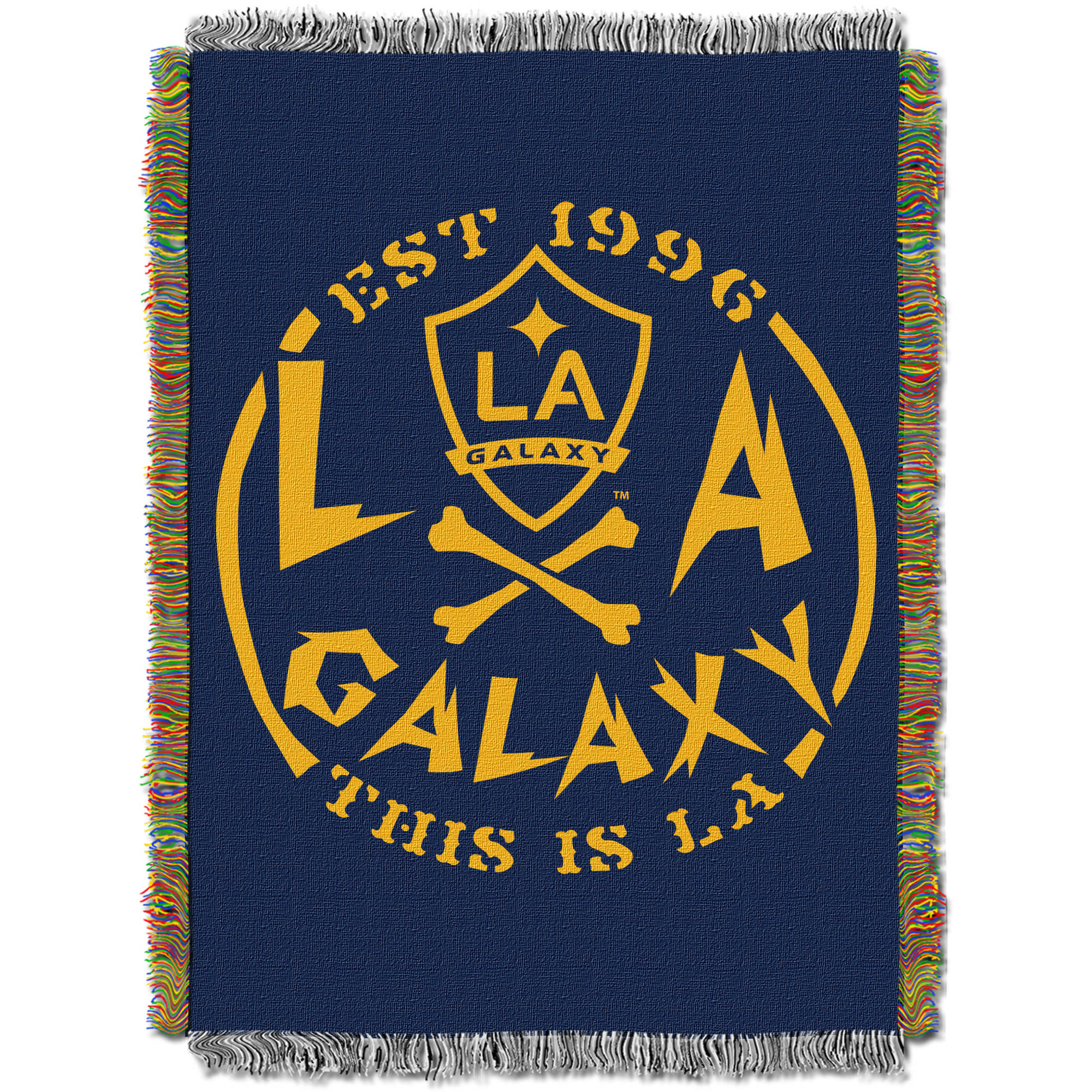 "MLS Los Angeles Galaxy Handmade 48"" x 60"" Woven Tapestry Throw"