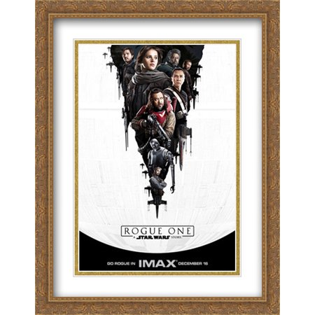 Rogue One: A Star Wars Story 28x36 Double Matted Large Large Gold ...