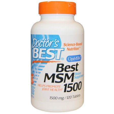 Doctor's Best, Best MSM 1500, 1,500 mg, 120 Tablets(pack of