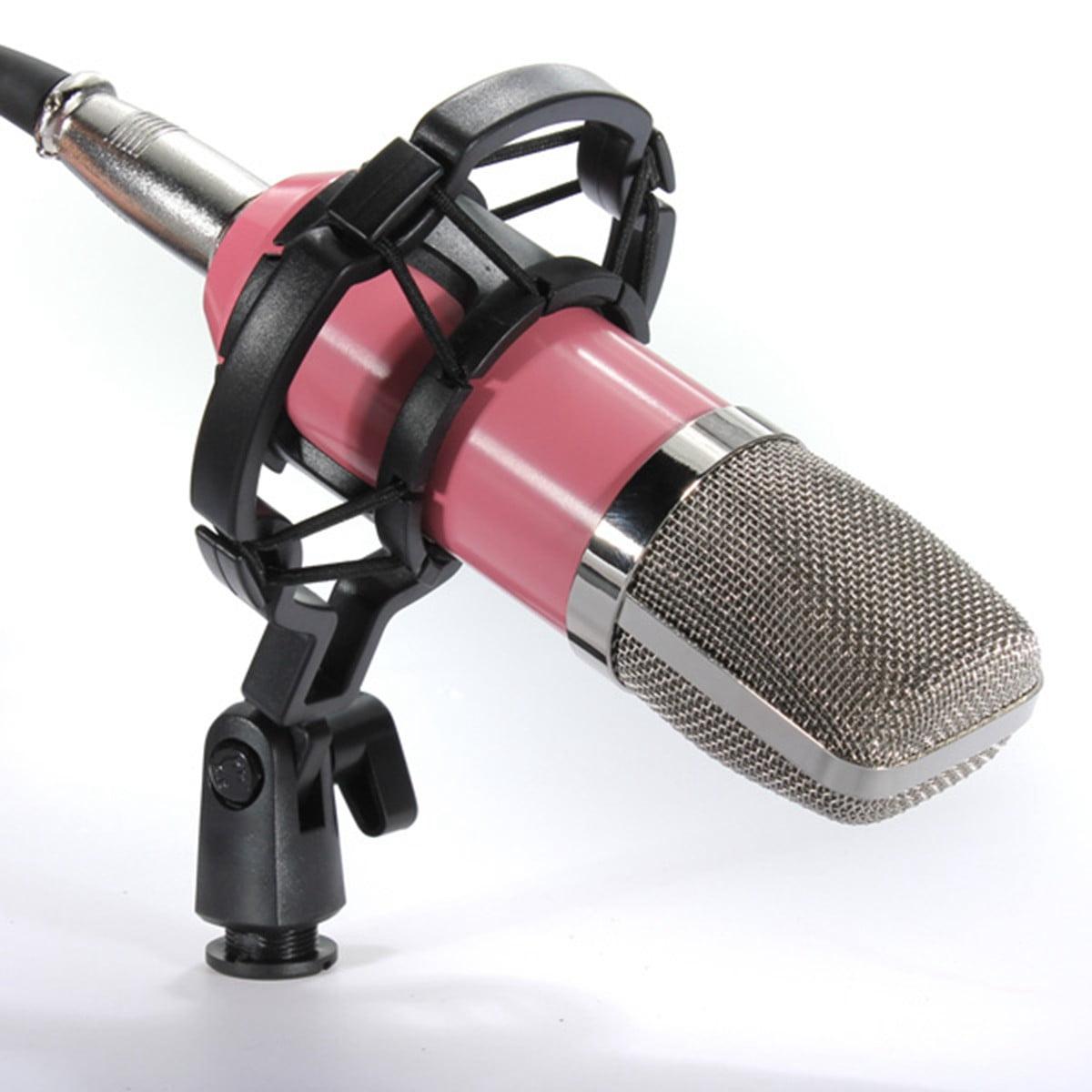 BM700 Dynamic Microphone Mic Sound Studio Record Recording Kit with Shock Mount,Black... by