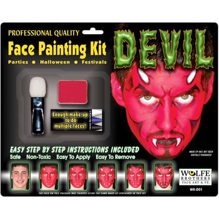 Comic Book Makeup Halloween Costume (Wolfe Brothers Makeup Kit Adult Halloween)