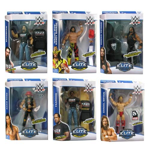 WWE Elite Collection Series 38 - Complete Set of 6 Mattel Toy Wrestling Action Figures