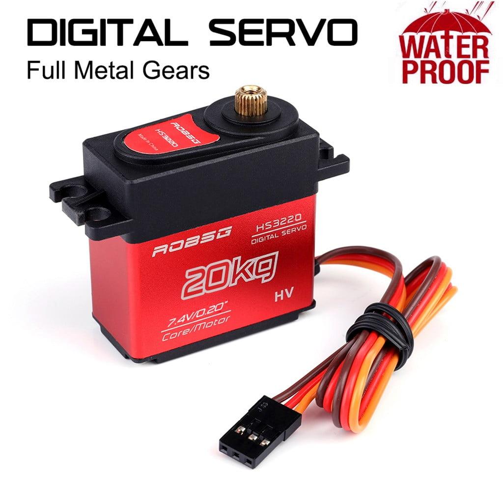 HS3220 20KG Digital Servo Metal Steering Gear Waterproof For RC Car DC Motor UK