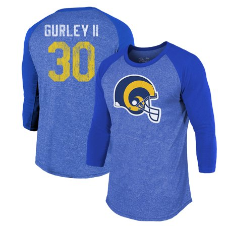pretty nice 0145d bc9cd Todd Gurley II Los Angeles Rams Majestic Threads Player Name & Number  Raglan Tri-Blend 3/4-Sleeve T-Shirt - Royal