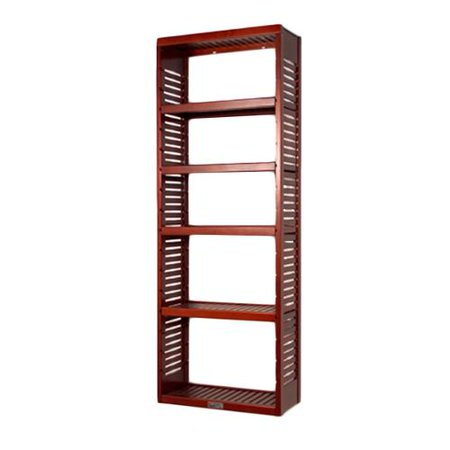 john louis 12 inch deep red mahogany standalone tower with. Black Bedroom Furniture Sets. Home Design Ideas