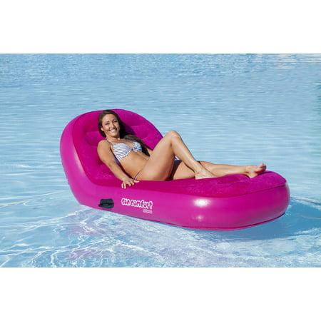 Airhead SunComfort Cool Suede Single Chaise Pool Lounge - Raspberry - image 1 de 2