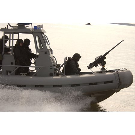 LAMINATED POSTER A Rigid Hull Inflatable Boat (RHIB) assigned to Mobile Security Detachment Two Four (MSD-24) patrol Poster Print 24 x 36