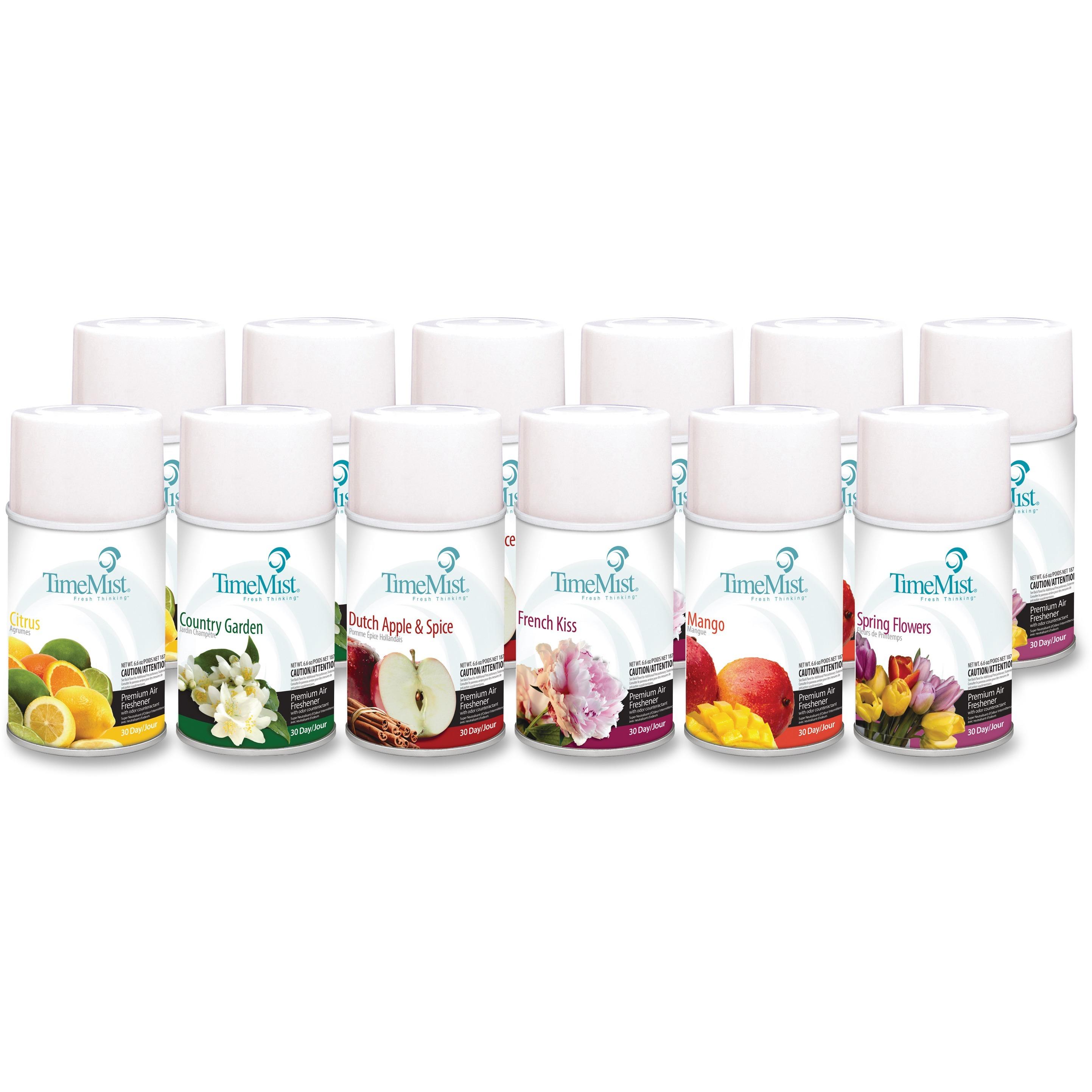 TimeMist, TMS1043978, Premium Qlty Assorted Freshener Refills, 12 / Carton, Assorted