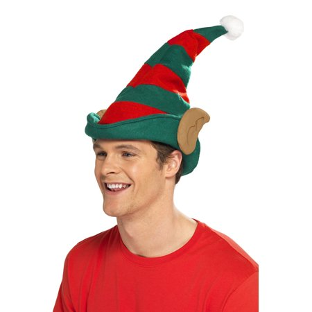 Striped Elf Hat with Ears - Elf Hat With Ears