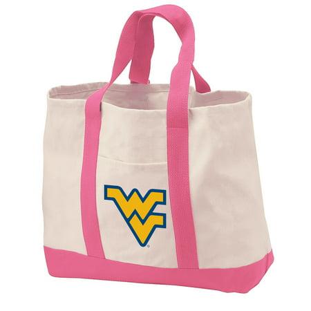 West Virginia University Tote Bag CANVAS West Virginia University Tote Bags for TRAVEL BEACH SHOPPING - Halloween Store Virginia Beach