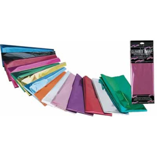 Beistle - 50602-C - Gleam N Wrap Metallic Sheets- Pack of 12