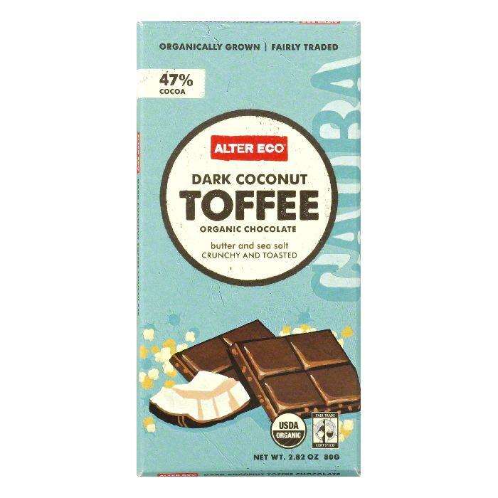 Alter Eco Coconut Toffee Organic Dark Chocolate, 2.82 Oz (Pack of 12) by