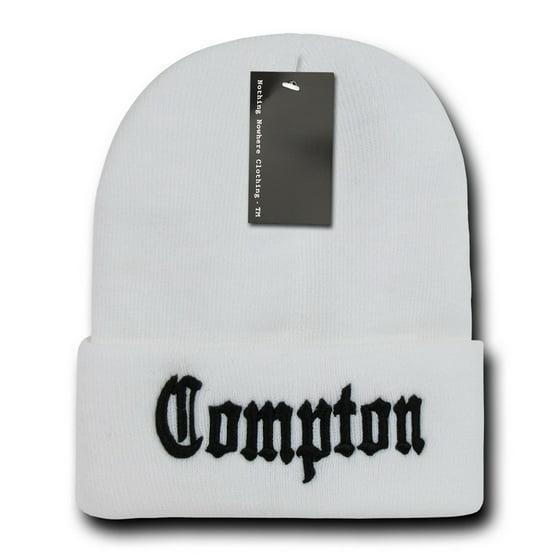 46f8843d91e Black   White Compton Vintage Eazy E NWA Dre Cube Cuffed Beanie Beanies Hat  Hats - Walmart.com