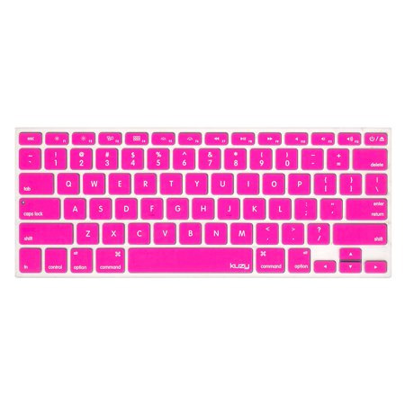 Kuzy - Neon PINK Keyboard Cover Silicone Skin for MacBook Pro 13