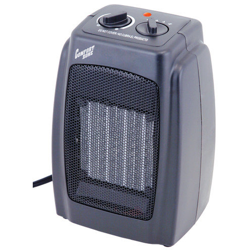 Comfort Zone 1,500 Watt Portable Electric Fan Compact Heater with Adjustable Thermostat