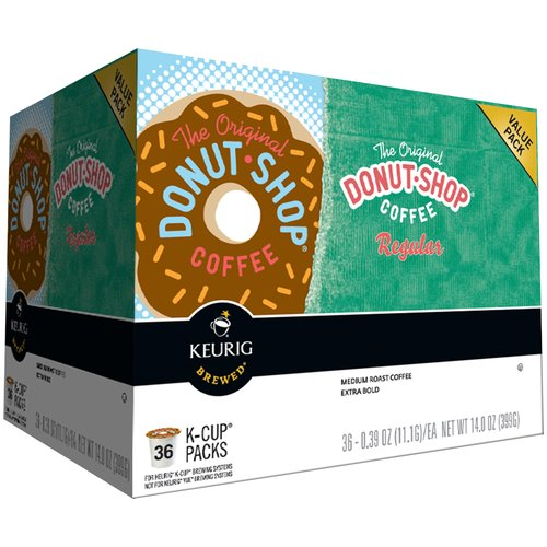 Keurig The Original Donut Shop Coffee Regular K-Cups, 0.39 oz, 36 ct