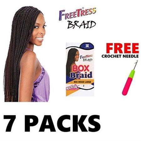 7 Large Freetress Box Braids Shake N Go Crochet Latch Hook Braiding