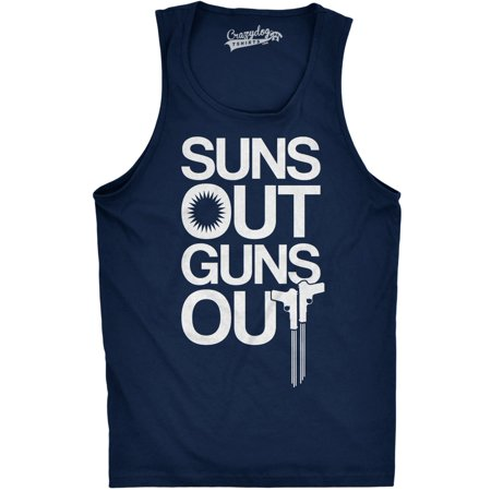 Mens Suns Out Guns Out Tank Funny Workout Tanks Hilarious Gym Shirt (Funny Tanks Men)