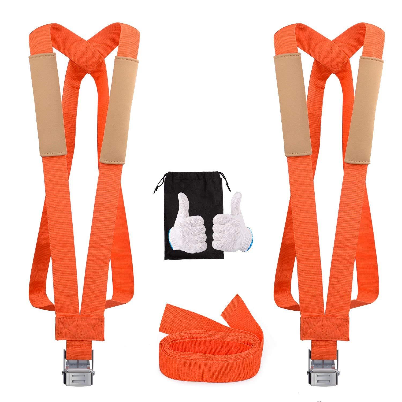 13 ft Lifting Moving Shoulder Straps 2 Person Furniture Moving Belt Moving Rope-2 Pack