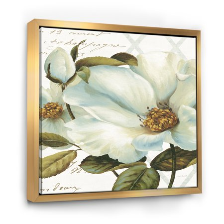 White Blossoming Flower Close-up - Modern Farmhouse Framed Canvas - image 3 of 3