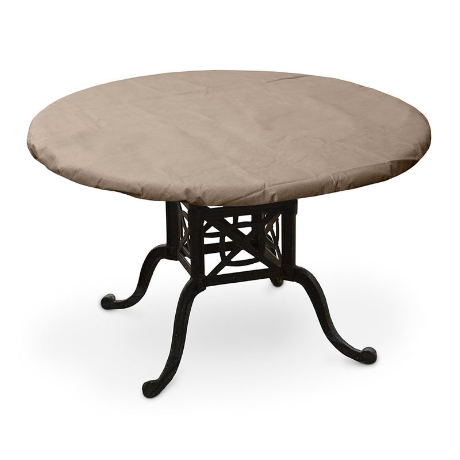 KoverRoos KoverRoos III Taupe Round Dining Table Top Cover