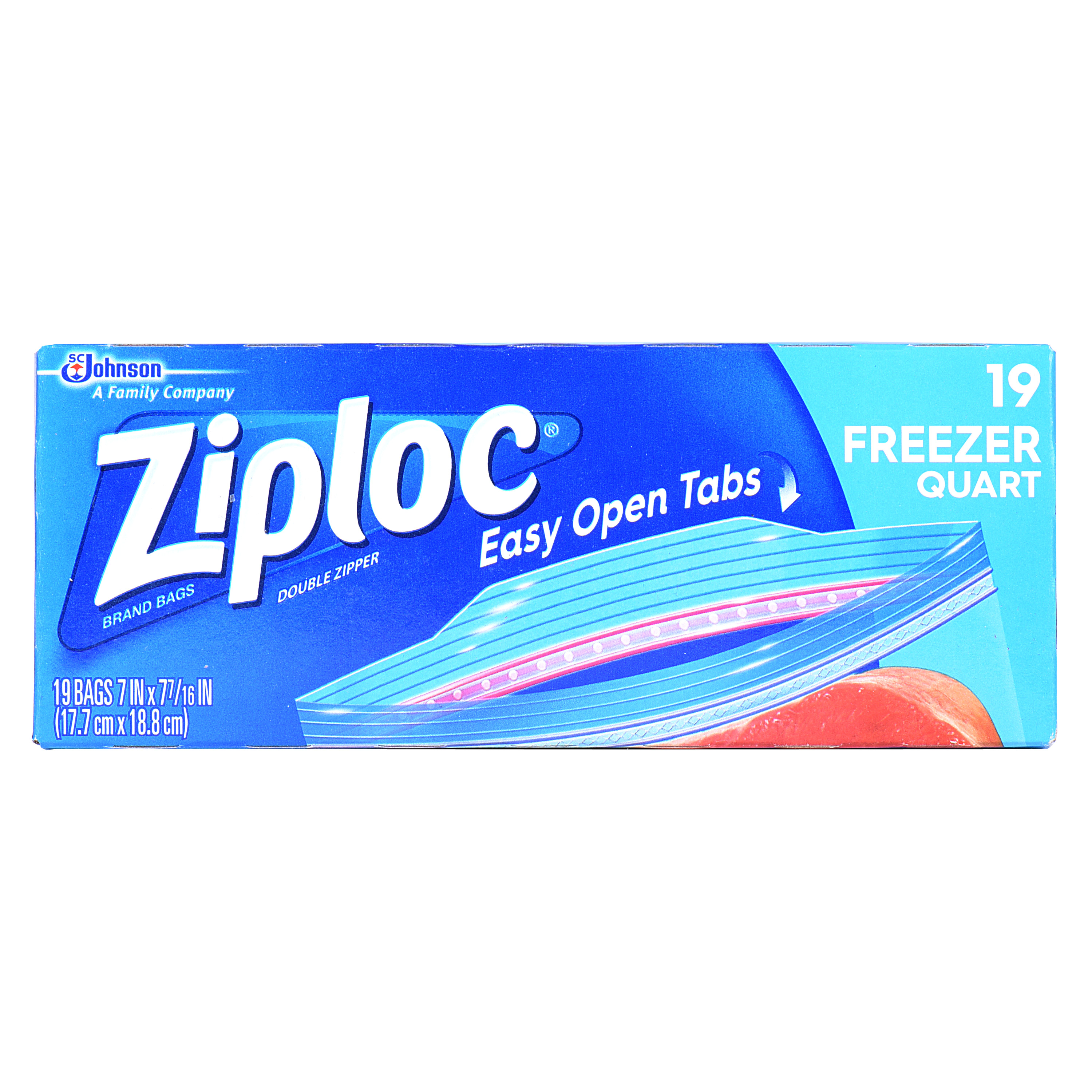 Ziploc Freezer Bags Quart 19 count