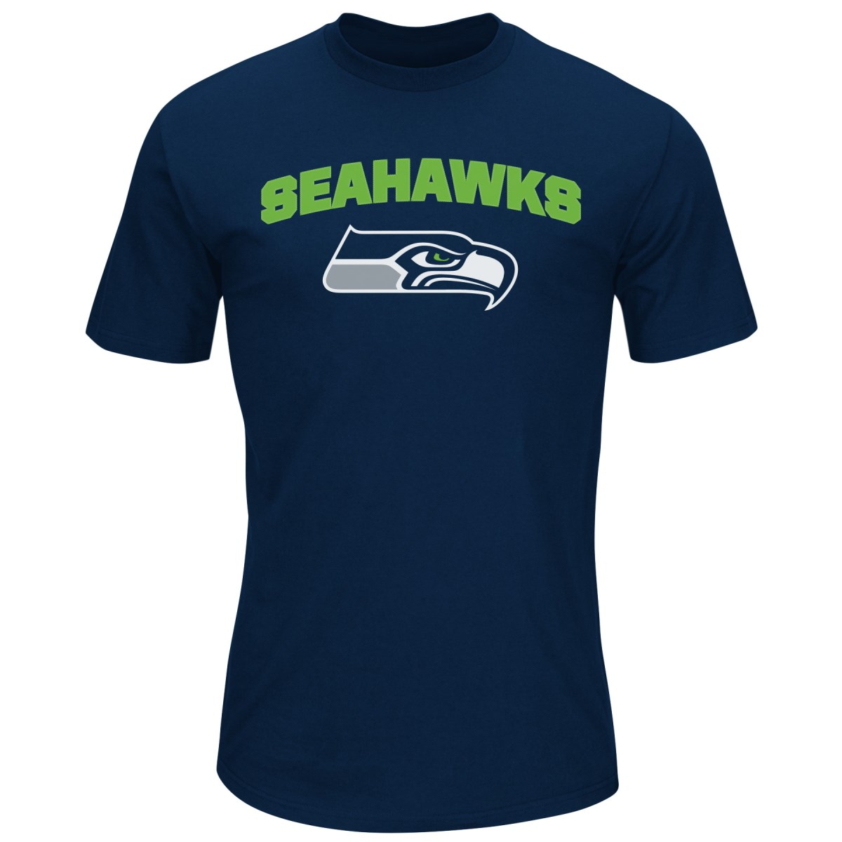 "Seattle Seahawks Majestic NFL ""Line of Scrimmage"" Men's T-Shirt - Navy"