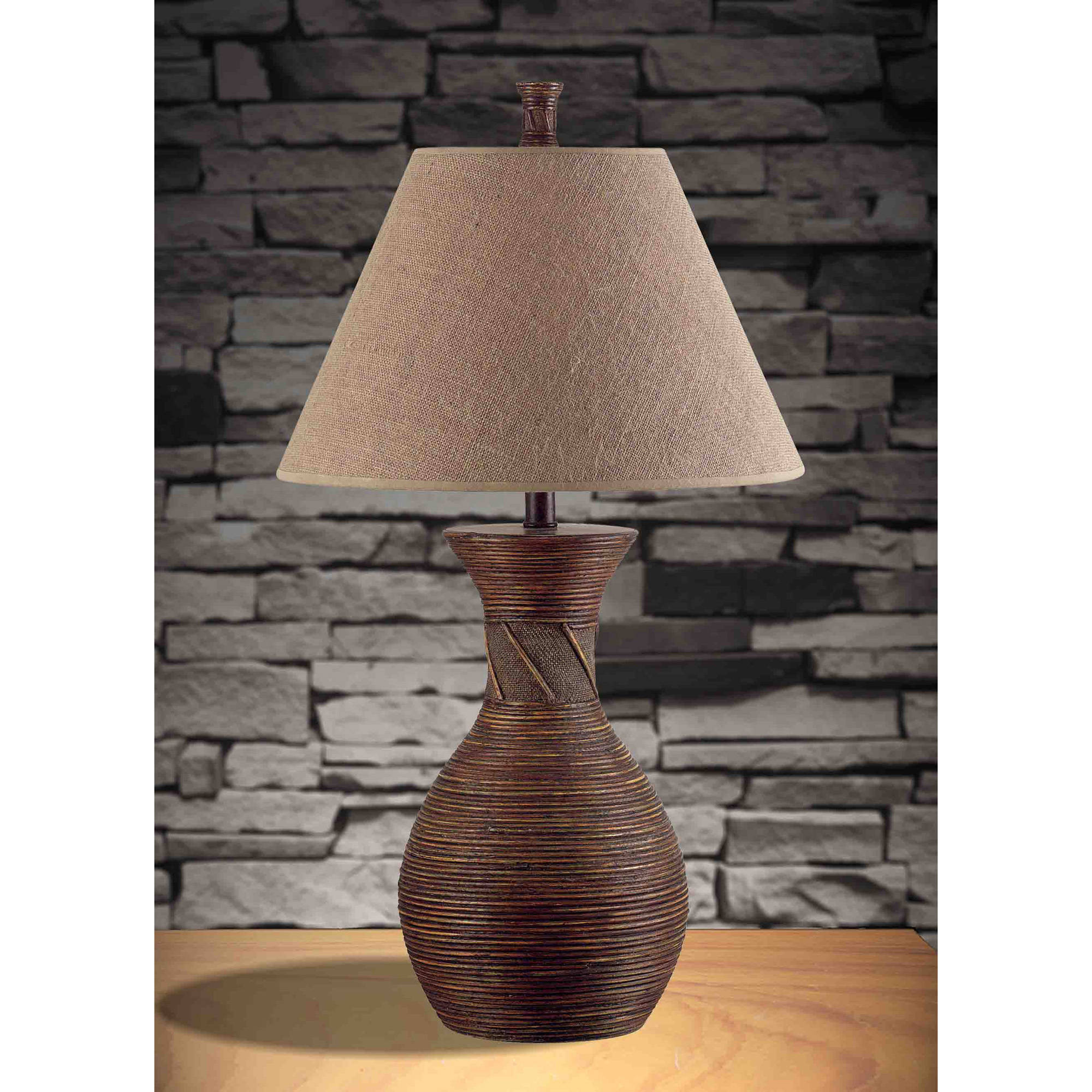Kenroy Home Santiago Table Lamp, Natural Reed