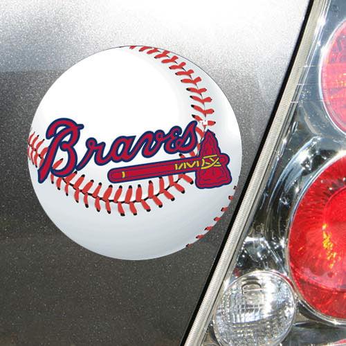 "Atlanta Braves WinCraft 5"" Die-Cut Car Magnet - No Size"