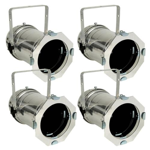 4x Silver PAR 56 Lighting CAN Stage Theatre PAR56 Light