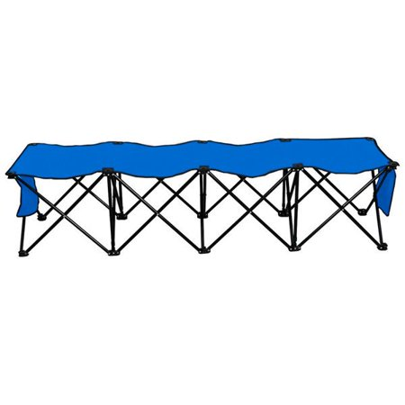 4 Seats Outdoor Sport Sideline Bench Portable Folding