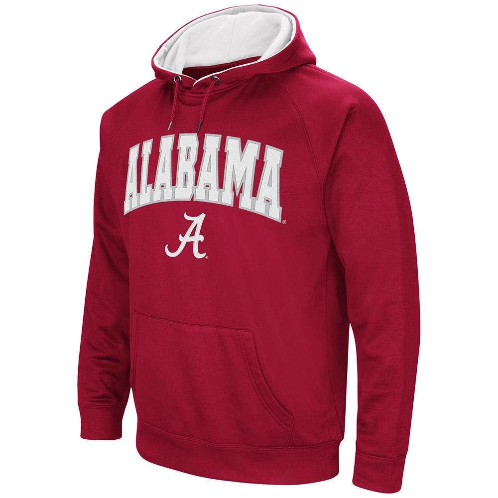 Mens Alabama Crimson Tide Fleece Pull-over Hoodie by Colosseum